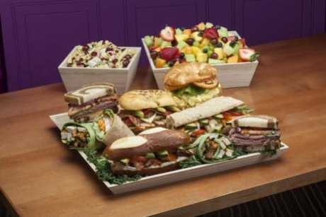 Sandwich Tray Pasta and Fruit Catering